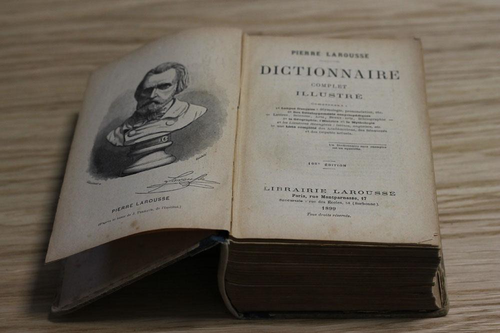 Ancien dictionnaire Larousse - dictionnaire 1900