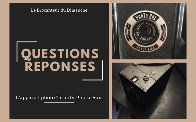 Mode de fonctionnement appareil photo Tiranty Photo-Box