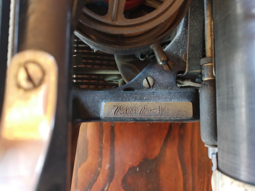 Machine à écrire Underwood n°3 - numéro de série