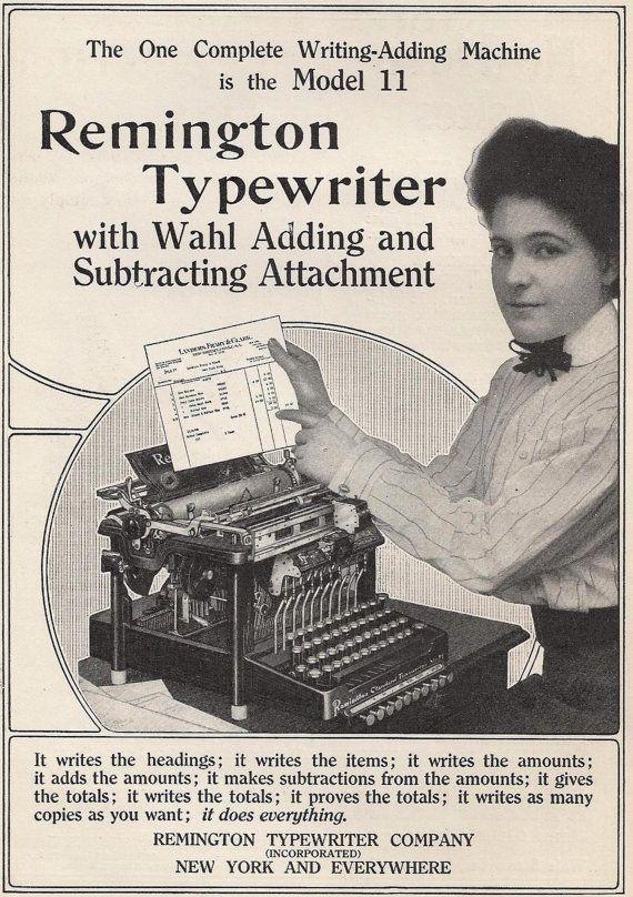 machine à écrire remington wahl adding chicago