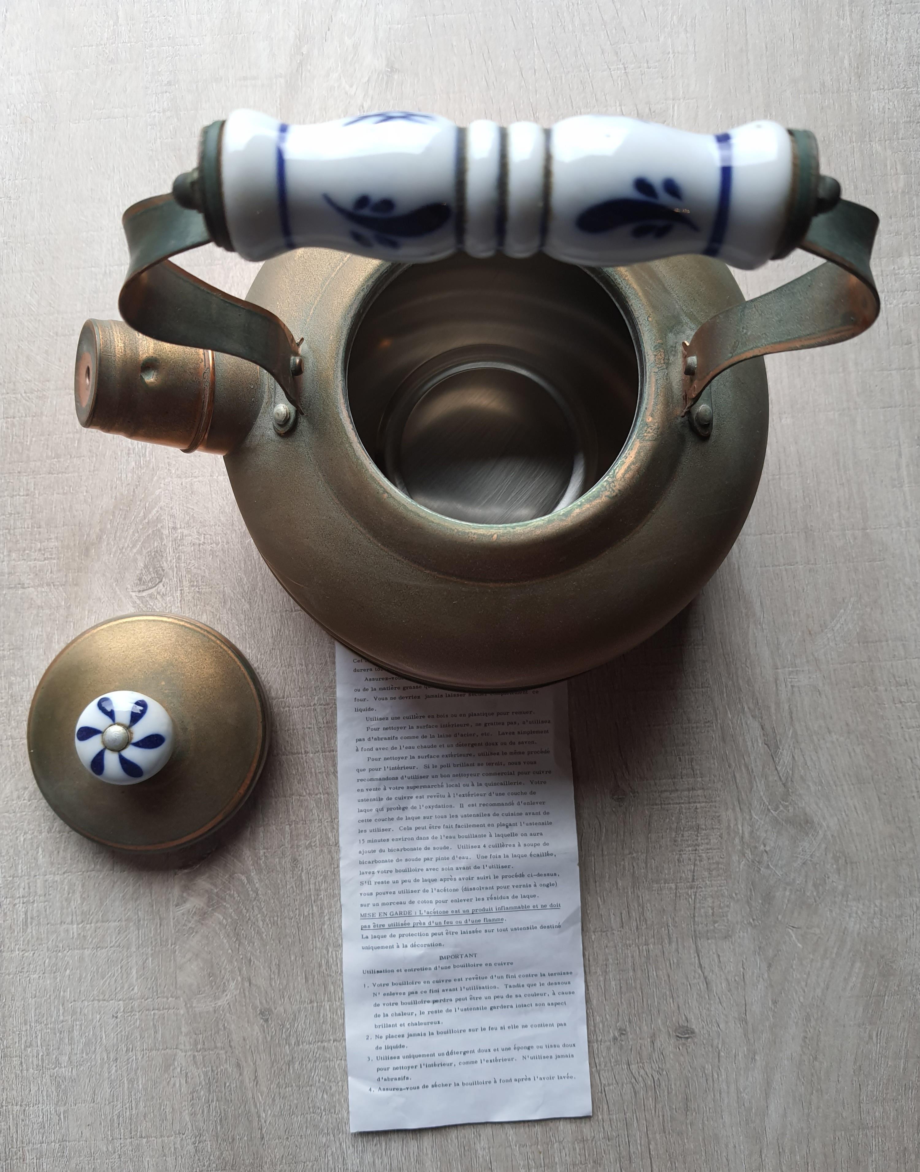 bouilloire cuivre