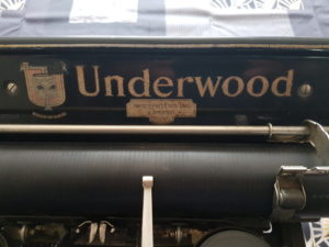 machine underwood n°3 chariot 12 pouces